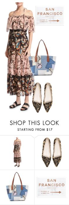 """""""dress"""" by masayuki4499 ❤ liked on Polyvore featuring FUZZI, Sophia Webster, Marc Jacobs and Oliver Gal Artist Co."""