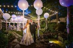 LED balloons are an amazing effect that is very cost effective. The lights have tiny LED lights inside that give the balloon a glow-in-the-dark effect when the