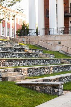 // by Nelson Byrd Woltz Amphitheater Architecture, Stairs Architecture, Architecture Details, Landscape Architecture, Valley Landscape, Urban Landscape, Landscape Design, Garden Design, Outdoor Stage