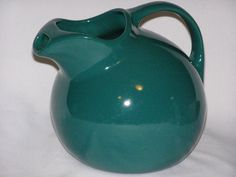 Spruce Forest Green Vintage Hall China Ball Pitcher by parkie2, $45.55