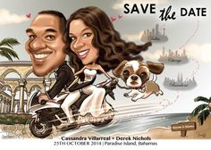 Wedding Caricature/ Wedding Invitations/ Save the Dates/ Vintage Design/ Gift for couple