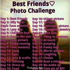 BFF photo challenge