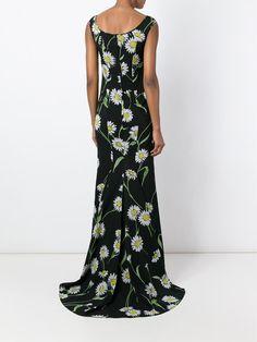 Dolce & Gabbana Vestido de seda longo floral