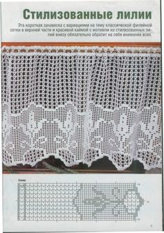 Gardine Filet häkeln ...  crochet - cortinas - curtain