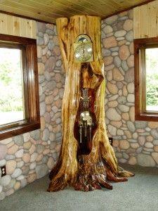image of a handcrafted custom log home furniture piece treemendousdesigns.com