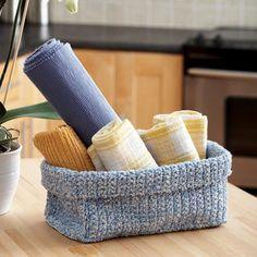 Crochet double stranded basket