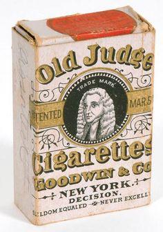 1887 Old Judge Cigarette Box