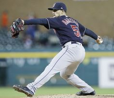Cleveland Indians relief pitcher Shawn Armstrong throws during the fifth inning  against the Detroit Tigers, Tuesday, May 2, 2017, in Detroit. (AP Photo/Carlos Osorio)