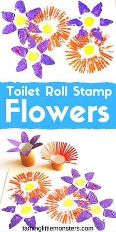 Toilet Roll Stamp Flowers – Spring Art for Kids