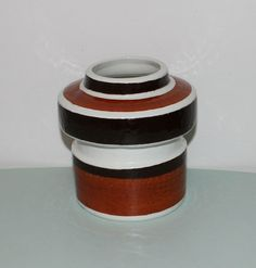 Decorative handpainted vintage ceramic vase by TopNotchScandinavia