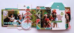 Christmas minialbum I made using @fancypantsdsgns Oh Deer collection   #scrapbook #scrapbooking #minialbum #fancypants #christmas