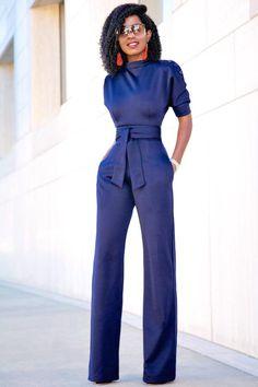 bb59da5da9ff Navy Blue Slanted One Shoulder Wide Leg Formal Jumpsuit