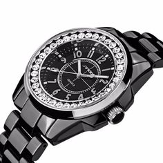 Casual Watches Unisex Quartzwatch men women Analog watches SINOBI Watches luxury Ceramics looks women Rhinestone dress watches #Luxury watches http://www.ku-ki-shop.com/shop/luxury-watches/casual-watches-unisex-quartzwatch-men-women-analog-watches-sinobi-