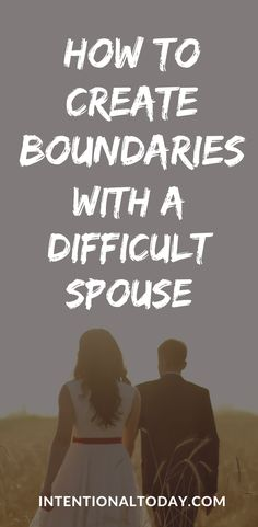 How does a boundary in marriage look like? Why are boundaries important and how do you go about creating and enforcing them? 5 important guidelines to help you create boundaries with a difficult spouse. Boundaries In Marriage, Communication In Marriage, Intimacy In Marriage, Marriage Advice, Love And Marriage, Newlywed Advice, Advice For Newlyweds, Healthy Marriage, Healthy Relationships