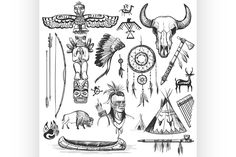 Red Indian Tattoo, Native Indian Tattoos, Indian Tattoo Design, Native American Tattoos, Native American Symbols, Native American Design, American Indian Art, Native American Indians, Cherokee Indian Tattoos