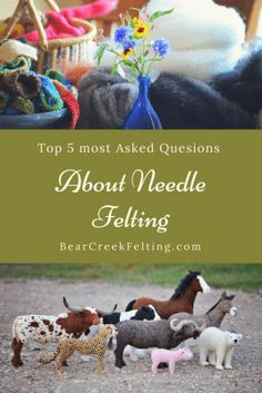 Answers to the top 5 most asked questions about needle felting.