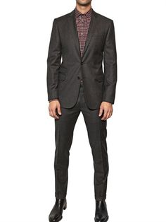 DSQUARED - CHECKED WOOL MILANO SLIM FIT SUIT