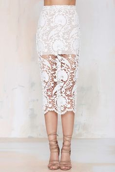 Stone Cold Fox Elliot Lace Skirt This is kinda cool