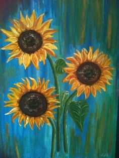 Original Acrylic Painting Sunflowers with by PaintingsbyAnna, £25.00