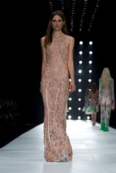 A look from the Roberto Cavalli Spring 2013 RTW collection.