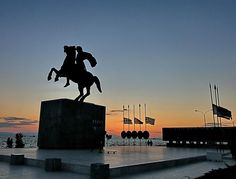 """""""Alexander The Great"""" Thessaloniki/Macedonia,Greece- photo by Tolis Flioukas Macedonia Greece, Alexander The Great, Thessaloniki, Ancient Greece, Ancient History, Greek, Concert, Building, Places"""