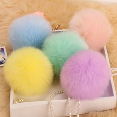 >> Click to Buy << 18 color trinket Keychain pompons keychains fake fur Keychain pompom pumpon chik Keychain furllaveros pompom llaveros mujer 1pcs #Affiliate
