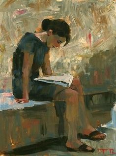 """""""Reader Art, posters and prints of a woman or women reading Reading Art, Woman Reading, Reading Posters, Reading Books, Figure Painting, Painting & Drawing, People Reading, Books To Read For Women, Illustration Art"""