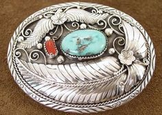 American Indian Jewelry for Sale | Indian Jewelry Genuine Turquoise and Red Coral Silver Native American ...