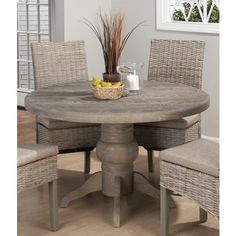 Burnt Grey 48 Inch Round Dining Table w/ Fixed Top is a part of Burnt Grey Collection by Jofran Inc.