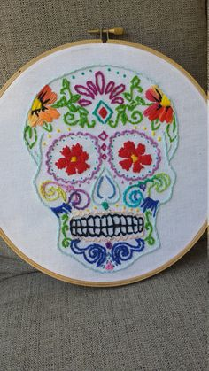 Sugar Skull/ Dia de los Muertos Art at https://www.etsy.com/shop/MadeByKalyn?ref=l2-shopheader-name