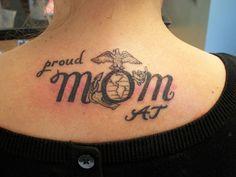 My Proud Marine mom tattoo