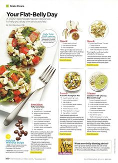 Flat Belly Diet - tofu scramble, pumpkin bowl and chicken with broccoli soup | Women's Health Magazine