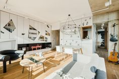 A Penthouse Apartment in Poznan Gets Revamped - Design Milk