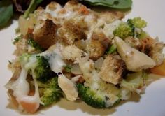 Chicken and Broccoli Casserole--make it in an oven-safe skillet or dutch oven to make this truly a one-dish meal!