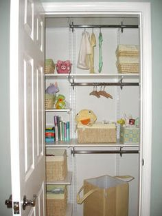 Regardless the size of your closet, an organizing system with adjustable rods and shelves is crucial for keeping items in order.