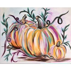 Pumpkin Canvas Painting, Halloween Canvas Paintings, Halloween Painting, Autumn Painting, Autumn Art, Fall Paintings, Fall Canvas Art, Simple Paintings, Country Paintings