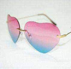 Love Star Sunglasses Heart-Shaped Sunglasses