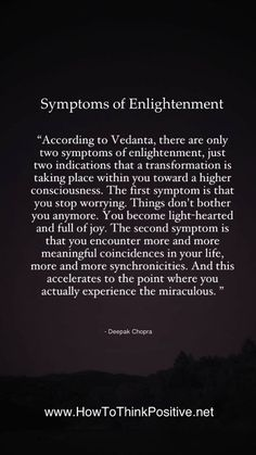 Symptoms of Enlightenment
