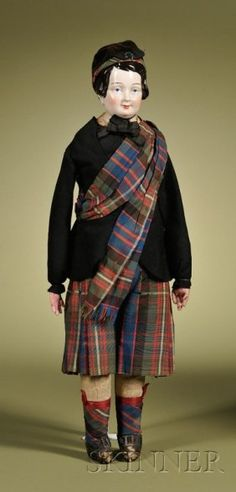 236: KPM China Boy in Scottish Outfit, Germany, c. 1845 : Lot 236