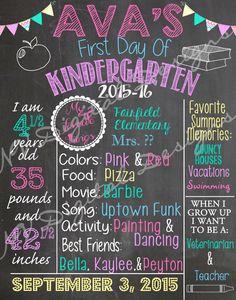 First Day of School chalk board- Back to school chalk sign- Digital File by NVDigitalDesigns on Etsy https://www.etsy.com/listing/243375880/first-day-of-school-chalk-board-back-to