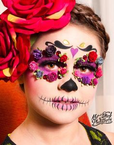 with my beautiful daughter with amazing makeup by ❤️💀 Halloween Looks, Halloween Face Makeup, Halloween Costumes, Helloween Party, Sugar Skull Makeup, Sugar Skulls, Skull Face, My Beautiful Daughter, Fantasy Makeup