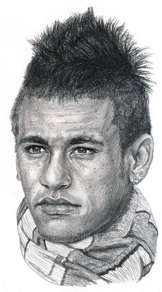 Brazilian soccer player Neymar ©drawing by Marcelo F de Abreu