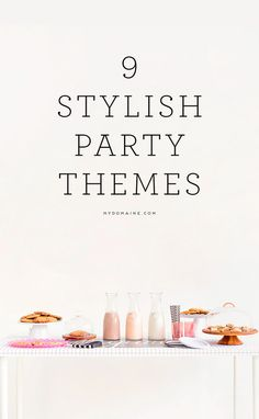 Unique and fun party themes for your summer bashes!