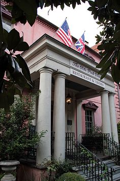 The Olde Pink House, Savannah, GA.. Beautiful mansion now turned restaurant built in 1771
