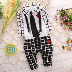Find More Clothing Sets Information about  Retail New 2014 autumn Gentleman clothing sets plaid  boys kids fashion sports suit boys tie shirts + overalls black red B329,High Quality shirt lazio,China shirt and tie pictures Suppliers, Cheap shirt vintage from C&M Team  Children's Clothing on Aliexpress.com