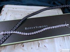 """Ross Simons CZ Sterling Silver Tennis Bracelet  ~ 14.85 CT TW ~ 7"""" #RossSimons #Tennis"""