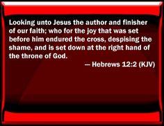 Image result for Hebrews 12:2