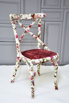 floral dining chairs