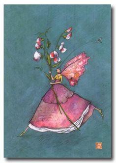 BOISSONNARD La fille papillon aux fleurs