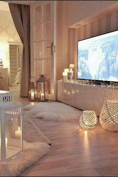 Beautiful Romantic Living Room Design And Decor Ideas - Living-room is the most significant and most open room at home, it invites visitors, it mirrors our lifestyle, so it ought to be only kept up. Living Room Decor, Bedroom Decor, Bedroom Ideas, Bedroom In Living Room, Living Room Ideas On A Budget, Cosy Bedroom, Ikea Bedroom, Bedroom Modern, Cozy Room